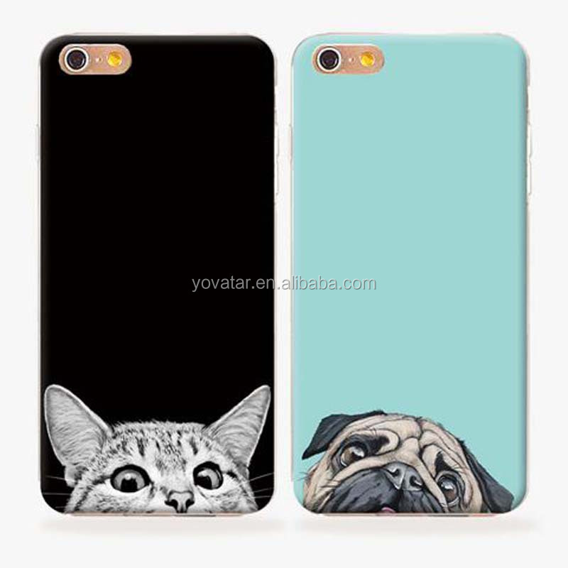 Creative New products Soft Flexible TPU phone case, for iphone 6 cute cat case, for iphone 6 plus drop-resistance case