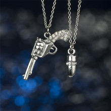 Gun pendant necklace,Gun charm necklace,Gun Shaped Pendant