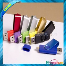 Wholesale Hot selling otg usb flash drives 16gb Multi-functional Swivel Mobile OTG Pendrive for Andriod Smart Phone USB
