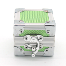 Aluminum small tool case designer jewelry ring storage box display kit