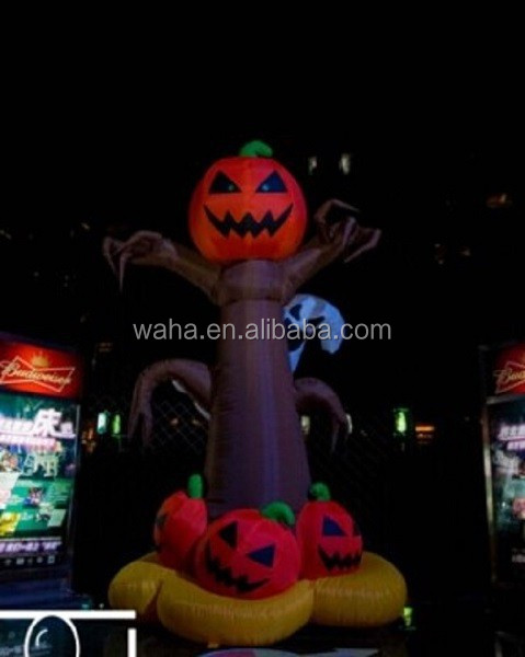 Hot halloween inflatable pumpkin tree,halloween inflatable pumpkin W88