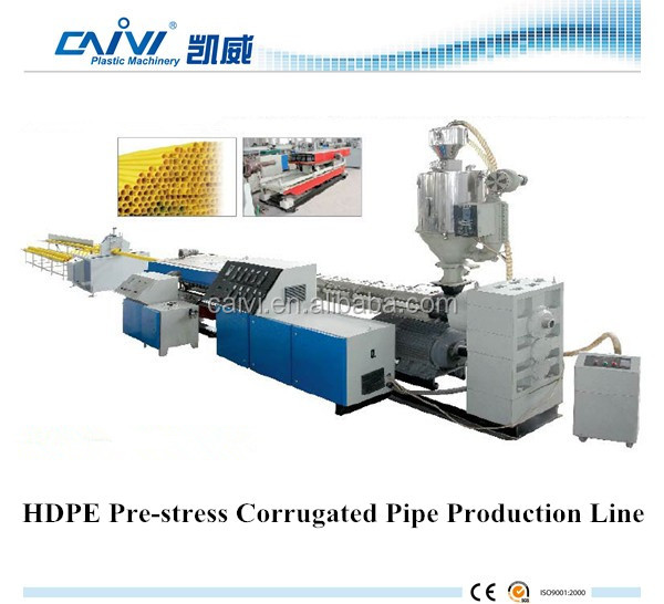 High efficiency plastic HDPE pre-stress corrugated pipe extrusion line