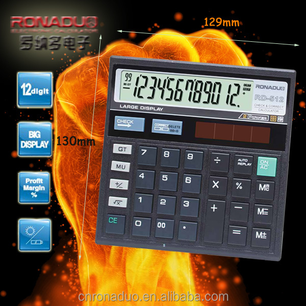 Guangzhou promotion calculator cost function table calculator wholesale 12 digit 120 steps check and correct desktop calculator