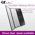 Three Sides Foldable Hollywood Style Makeup Mirror with LED Light