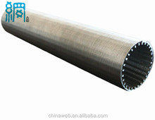 Continuous Wedge Wire screen pipe for drilling