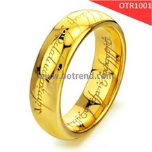 Lord of ring beloved ring of PVD gold plated tungsten never faded tungsten fashion area