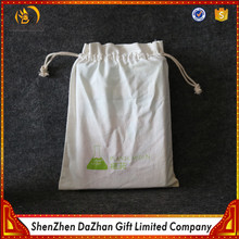 Gift Packaging Wholesale Plain White Cotton Fabric Bags