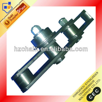 Palm oil mill chain with roller attachment