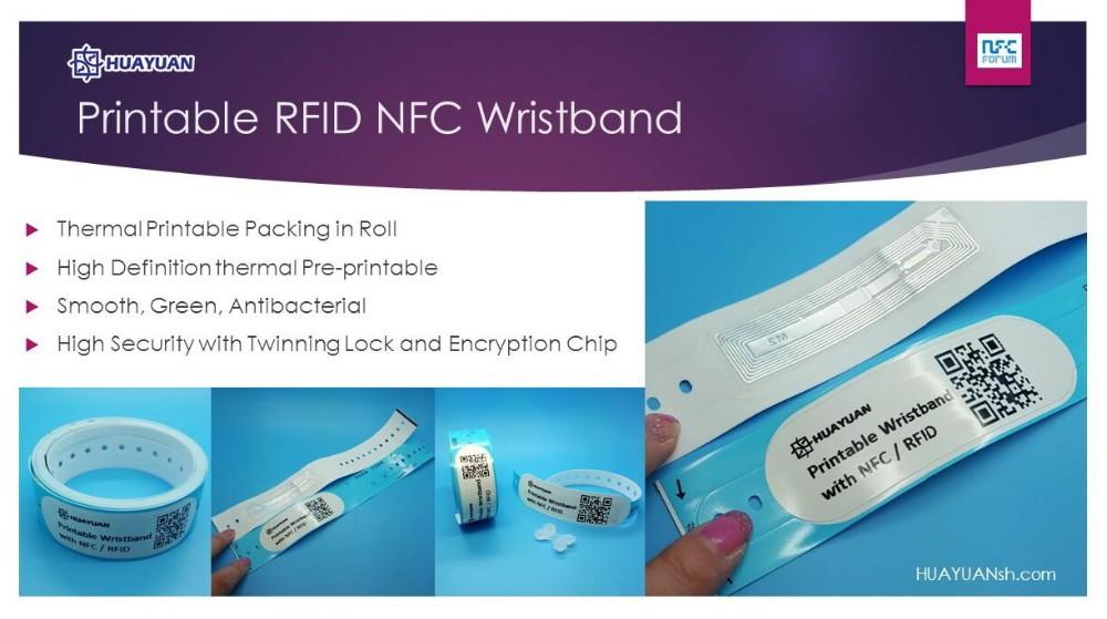 Event Tickets Nfc Ntag213 Printable Vinyl Wristband