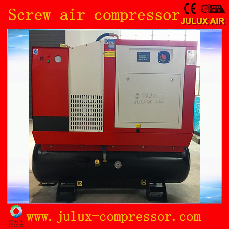 7.5kw 10hp Screw Air Compressor Combined With Tank And Dryer