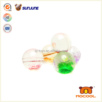 Cheap transparent bounce ball, custom printed bouncing ball promotional