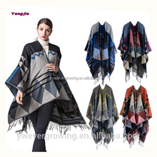 Winter Thick Warm Bohemian Indian Ethnic Style Acrylic Tassel Bohemian Poncho Shawl for Women