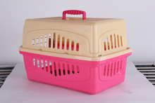 Wholesale low MOQ Airline approved portable plastic dog cage, dog kennels, pet soft crate