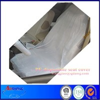 (disposable) Clear plastic seat cover for cars