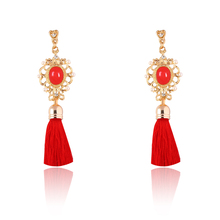 2017 new fashion tassel with pearl drop earrings fashion jewelry for woman