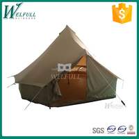 Large cotton canvas waterproof camping tents for sale