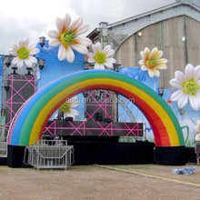 stage inflatable flower decoration & inflatable rainbow arch