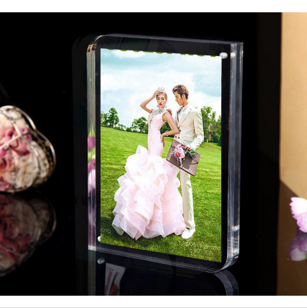 Elegant acrylic magnetic photo frame acrylic picture display frame