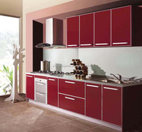 Red Kitchen Cabinet Price/Cabinets Price From China