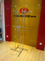 HJ-36 Chrome 4 Way Clothing Display Rack
