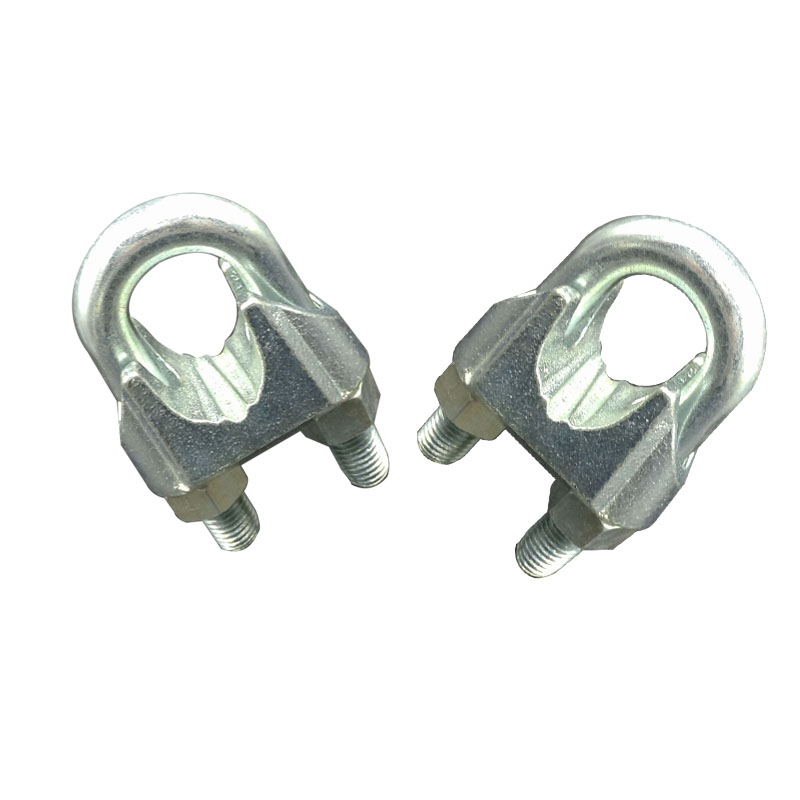 Silver US type fasteners galvanized malleable wire rope clip