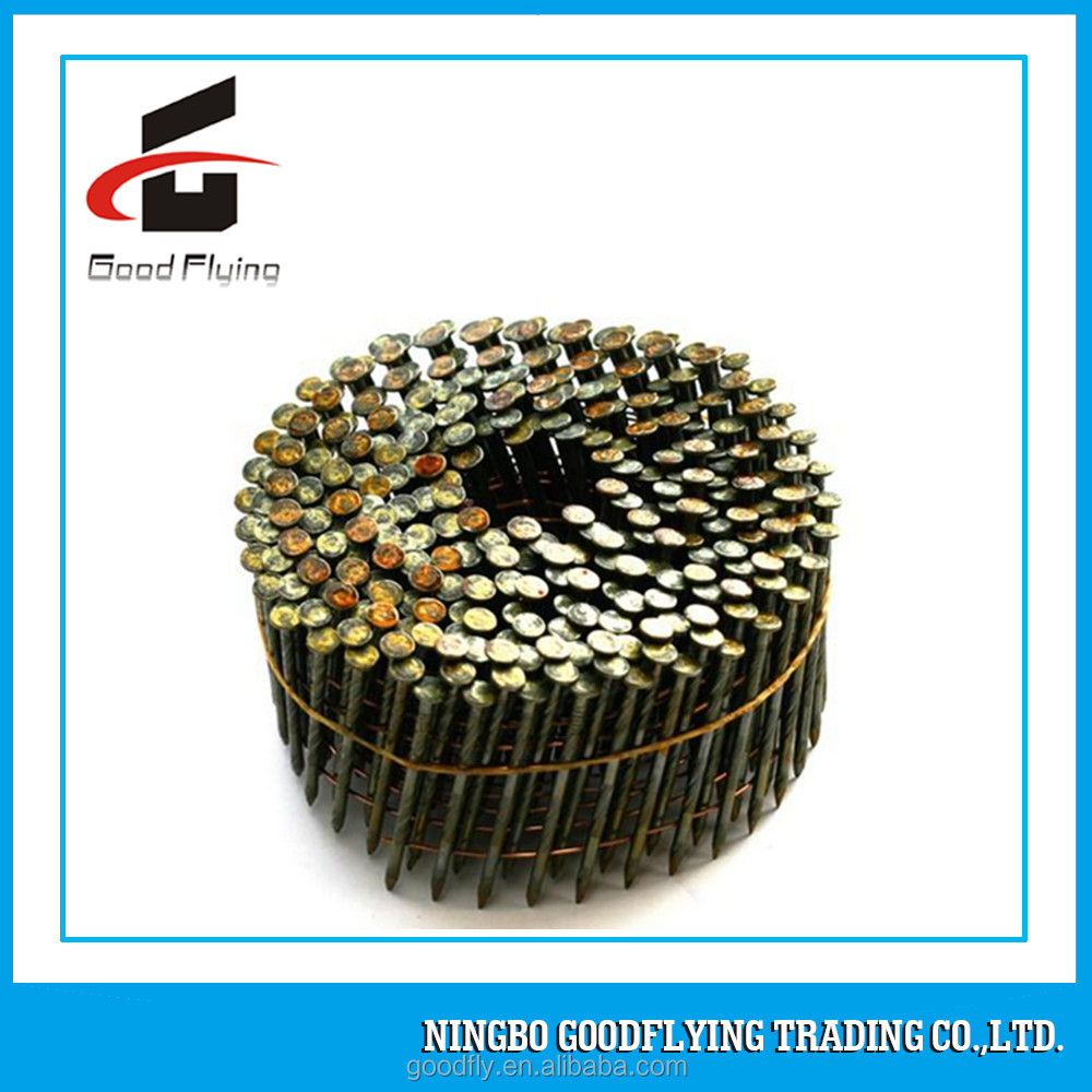 China supplier screw shank coil nails/coil wire nails 1kg box