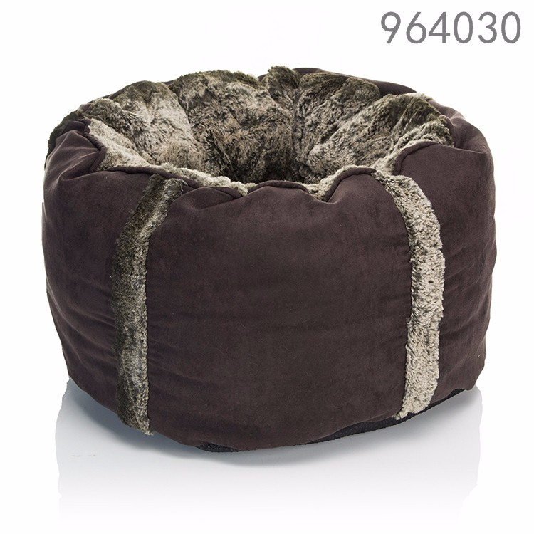 wholesale alibaba best selling products new premium dog kennel soft warm coffee round luxury pet dog cat beds in the bedroom