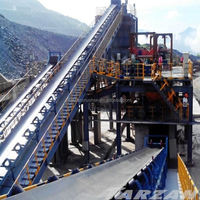 High efficiency belt conveyor with hopper for road construction