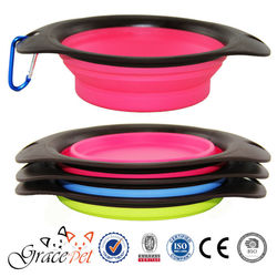 Colorful Silica Collapsible dog bowl