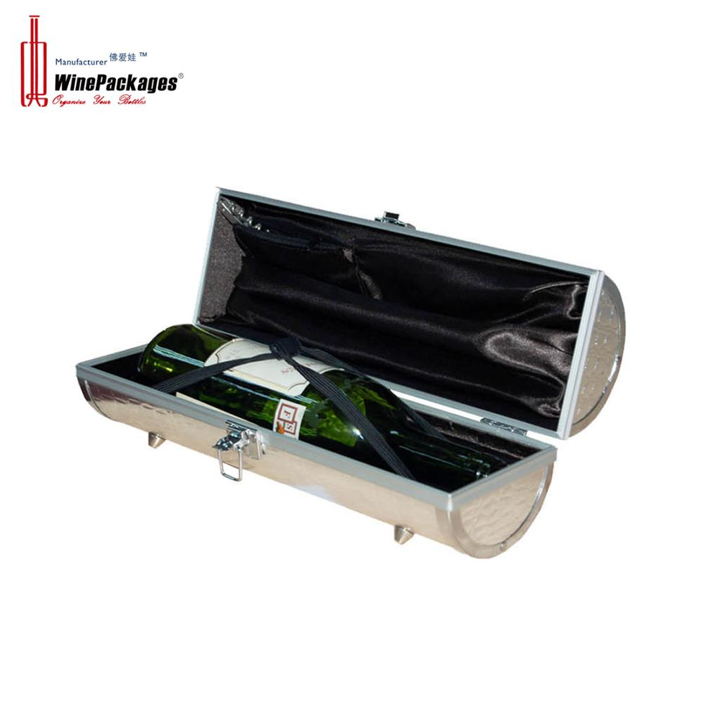 High-end custom leather single portable wine gift bag packaging