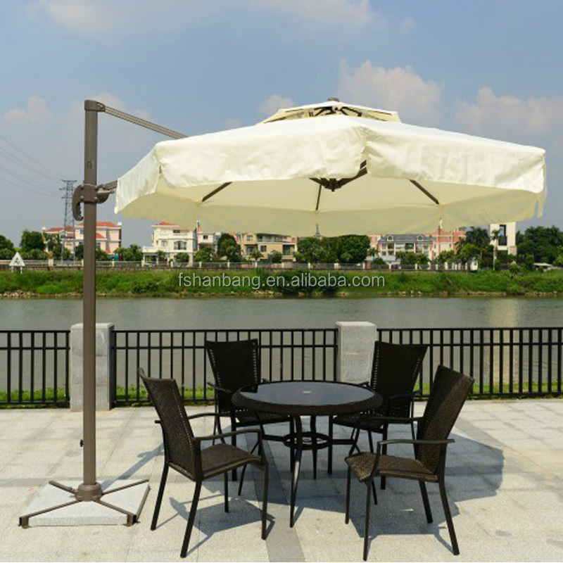 Outdoor Umbrella Wind Resist Standard Size Custom Printing Hexagonal Umbrella Patio Outdoor Umbrella
