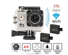 "Ultra HD 4K Wifi Action Camera with 2""LTPS Screen"