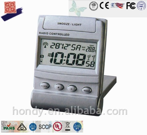 New Mini RC LCD Desk Alarm Clock With Snooze / Light, JJY