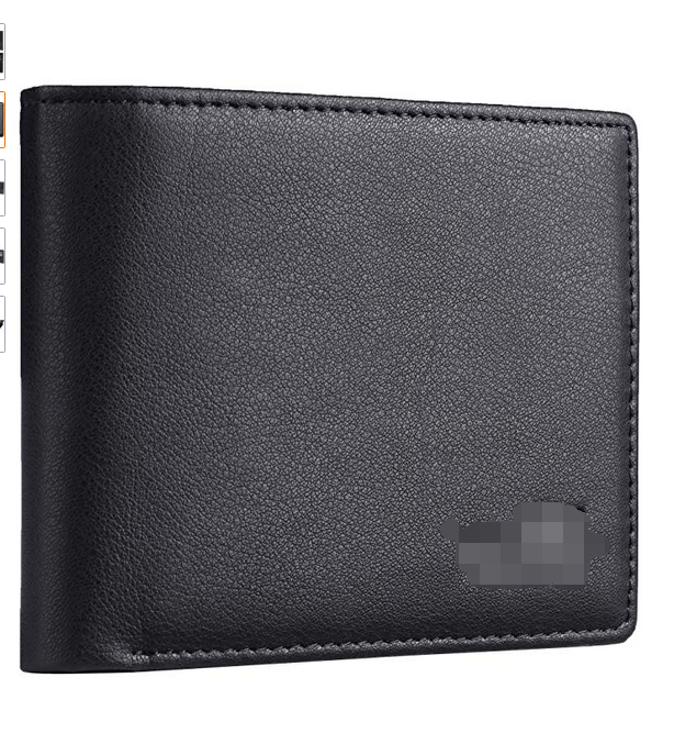 RFID Blocking Bifold Leather wallet with 2 ID Windows,Gift for <strong>Men</strong>, Multi Card Extra Capacity Travel Wallet