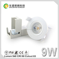 Cutout 83mm,Ra92 2700K/3000K/4000K led dimmable downlight IP44 5 years warranty