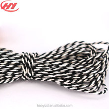 Twist Gold White & Black Cotton Twine Rope Natural BakersTwine for Gift Packing Crafting