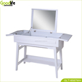 Luxury dressing table with flip mirror and storage space