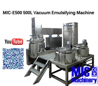 With 1 Years Warrant MIC-500L Vacuum Emulsifying Machine / Homogenizer Mixer for Food Cosmetic and Chemical Production