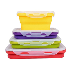 Collapsible Silicone Lunch Box for Kids