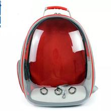 360 degree breathable capsule shaped pet bag , clear space cat bag
