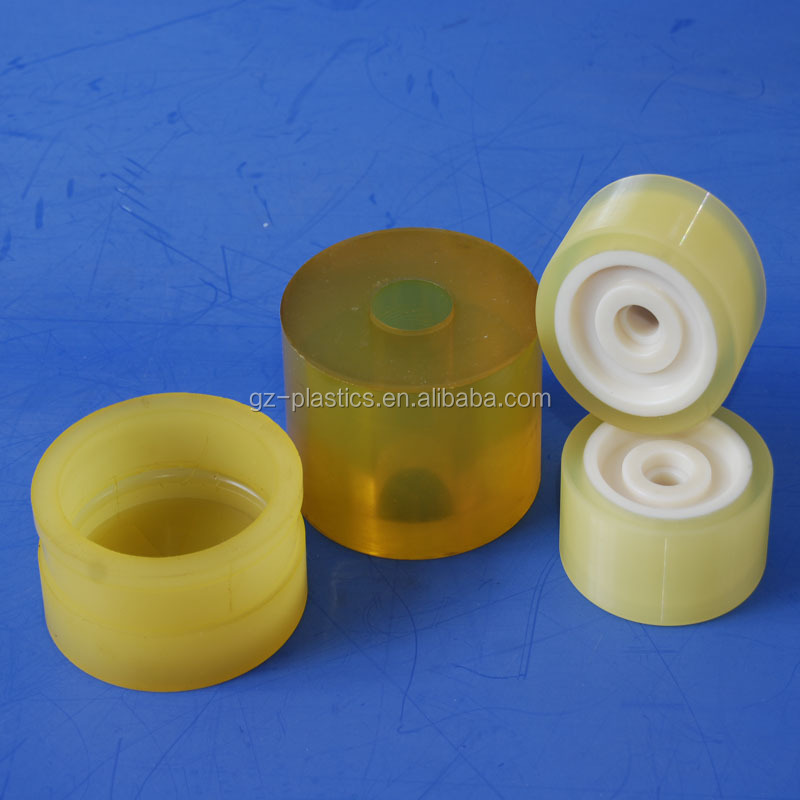 Durable high precision custom made mould plastic injection parts pu wheel for machine
