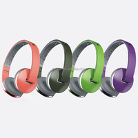 Fancy color stereo headphone with adjustable headband