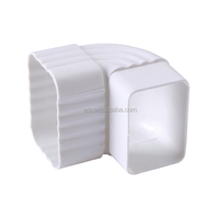 ERA PVC Square Rain Gutter Fitting 5.2 inch, 90 degree Elbow