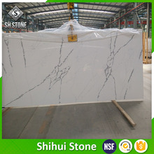 marble design quartz slab,Sparkle White quartz