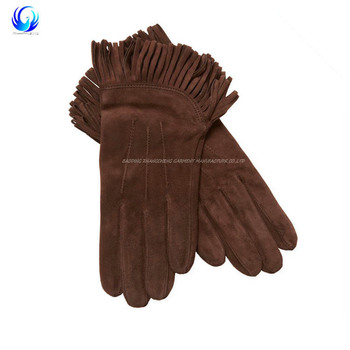 2018 New style winter gloves leather with suede leather with low price