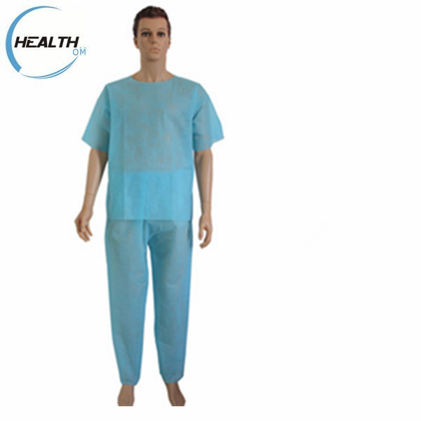 2017 wholesale Disposable Medical nonwoven nurse scrub suit scrubs uniforms with CE&ISO approved