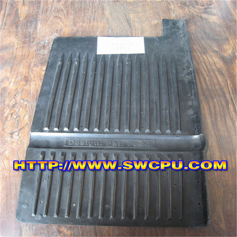 High friction black rubber panel