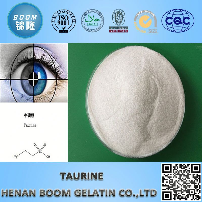 ISO standard high quality white needle crystal powder taurine /bluk taurine for blood pressure