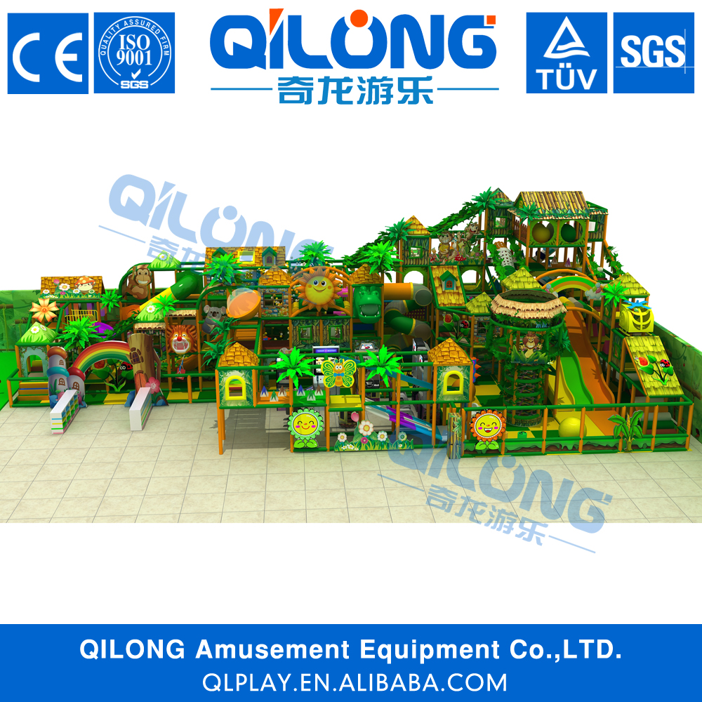 2016 qilong Specialty high quality indoor playground flooring