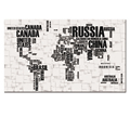 Wholesale Stretched Modern Style English Map Creative Interior Hanging Picture Current Office Decoration